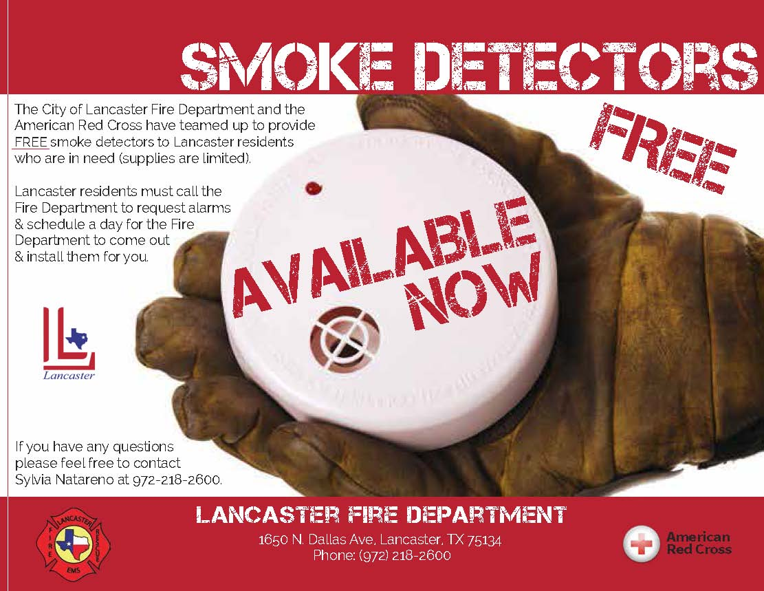 Smoke Alarms Available Flyer with L