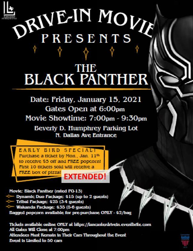 Jan 13 Black Panther Flyer
