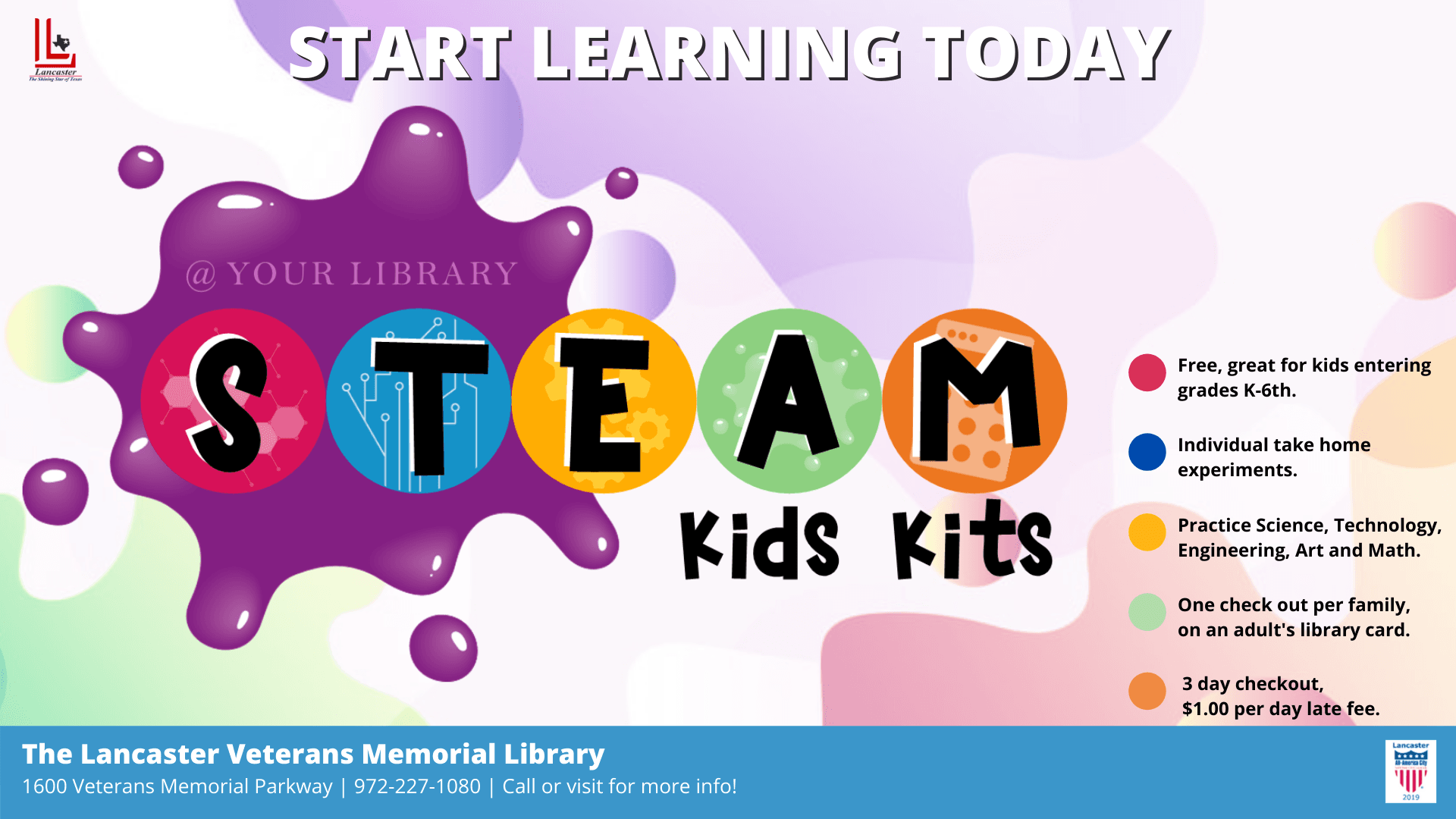 STEAM Kids Kits Event Flyer