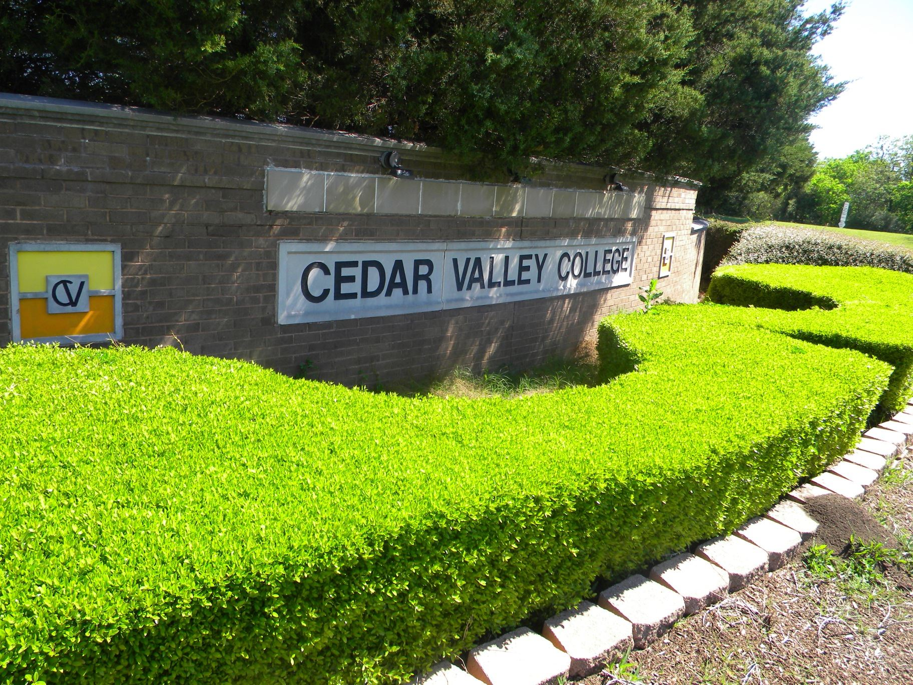 Cedar Valley College Welcome Sign